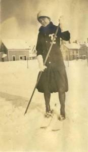 F.S.N.S Girl Walking through Snow